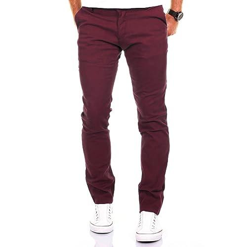 eece11cd19ff9 Merish Pantalone Hommes Chino Slim Fit Pantalon Coton Casual et Moderne  adapté pour Toutes Les Occasions