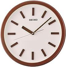 Seiko Plastic Wall Clock (35 cm x 35 cm x 4.5 cm, Brown)
