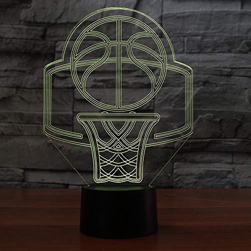 3D Night Light USB 7 cambio de color de canasta de baloncesto, modelo LED 3D, lámpara de noche, lámpara de escritorio, decoración creativa para niños