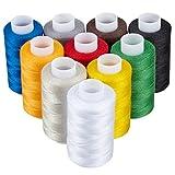 KAGEN Fil à Coudre de qualité 100% Polyester, Lot de 10 bobines, 800m, Différents...