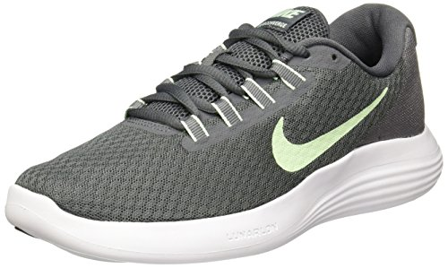 Nike Women's Lunarconverge Dark Grey/Fresh Mint-Cool Ankle-High Running Shoe - 7.5W