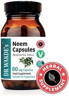 DR WAKDE'S® Neem cápsulas (Azadirachta indica) I 100% Natural I 60 cápsulas I Productos ayurvédicos I Sin aditivos I I Descuentos I