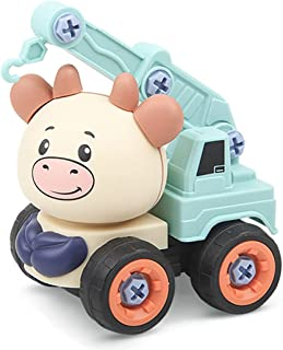 Dorakitten Kids Car Assembly Toy Cartoon DIY Engineering Car Toy Educational Construction Vehicle Toy Car Toy Assembly