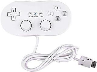 Wii 1リモートコンソールビデオゲーム用アクセサリーの有線クラシックコントローラホストゲームジョイスティックゲームパッドコントローラ(カラー:ホワイト)