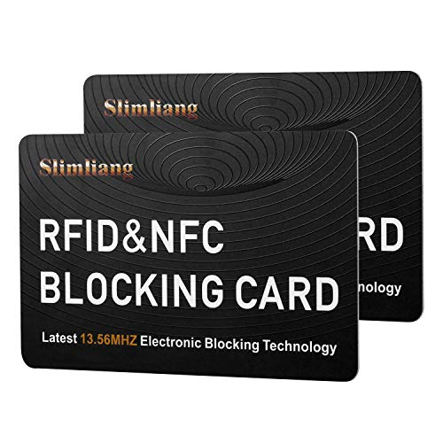 2Pcs RFID Blocking Card, Fuss-Free Protection Entire Wallet & Purse Shield, Contactless NFC Bank...