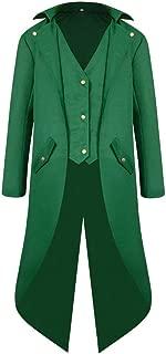 Mlide Men's Steampunk Vintage Tailcoat Jacket Gothic Victorian Frock Coat Uniform Halloween Costume