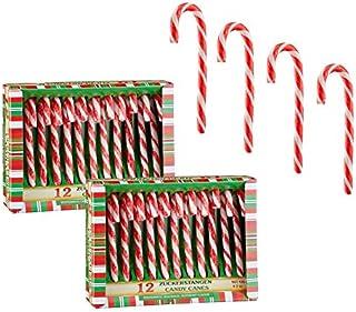 Spetebo Suikerstokken, eetbaar met pepermunt-smaak - 24 stuks - kerstdecoratie boomversiering kerstboomdecoratie hanger sn...