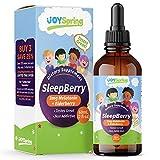 SleepBerry Liquid Melatonin for Kids - Natural Sleep Aid with Elderberry and Vitamin D - Boost Immune System While They Sleep (2 oz)