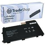 Trade-Shop Hochleistungs Li-Polymer Akku 10.8V/11.1V / 4250mAh für Lenovo Thinkpad T430U ersetzt L11N3P51 L11S3P51 45N1090 45N1091 45N1089 45N1088