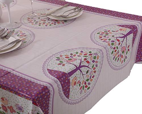 VINYLLA - Mantel para Mesa (PVC, fácil Limpieza), diseño de Bosque - Round(Dia.160cm)