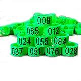 Nuevo 100 piezas 8 mm 1-100 numeradas bandas de pierna de ave aves pájaro Paloma anillos de pato clip