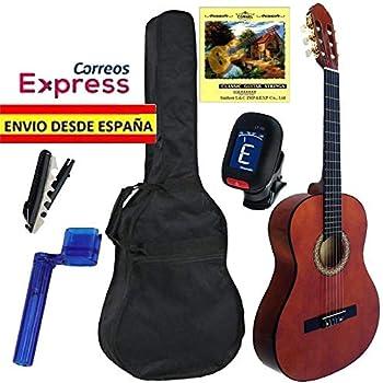 Pack de Guitarra Clásica JOSÉ GÓMEZ Completo, Guitarra + Funda + Afinador + Cuerdas + Cejilla, Varios Colores (NATURAL): Amazon.es: Instrumentos musicales