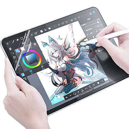 iPad Pro 12.9インチ 2020/2018 ペーパーライク 保護フィルム 【失敗時無料交換】 ペン先摩耗低減仕様 アンチグレア 反射低減 非光沢 (iPad pro 12.9)