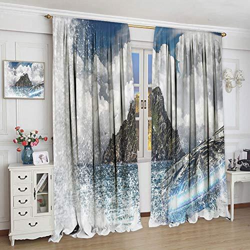 Cortinas supersuaves Star Wars una nueva esperanza para habitaciones de niños cuarto de guardería (63 x 63 cm)