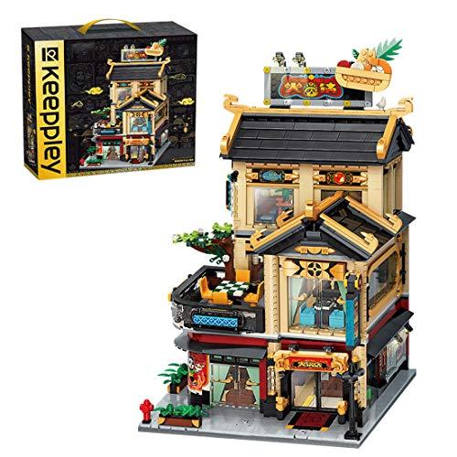 KEAYO Bloques de construcción para casa, 2482 piezas modulares chinos, kit de construcción de maquetas, arquitectura de 3 pisos, bloques de sujeción, edificios, modelo compatible con casa Lego