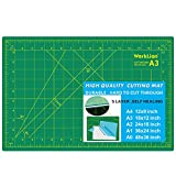 WORKLION 12' x 18' Art Self Healing PVC Cutting Mat, Double Sided, Gridded Rotary Cutting Board for...
