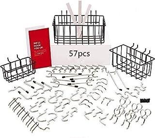 S SMAUTOP Organizador de tableros | Accesorios de tablero de clavijas de 1/4 de pulgada | Juego de ganchos de tablero de clavijas para herramientas: no se cae del tablero