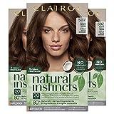 Clairol Natural Instincts Semi-Permanent, 5BZ Medium Bronze Brown, Hot Cocoa, Pack of 3