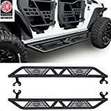 u-Box 4-Door Wrangler Side Step Running Board w/Star Cut for Jeep JK Wrangler Unlimited 2007-2018