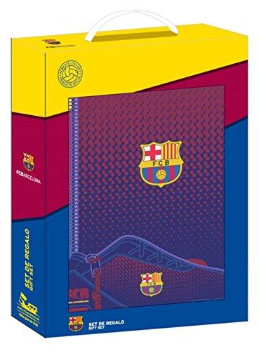 Safta Corporativa Set con un Cuaderno, un Estuche y una Carpeta, FC Barcelona Corpor Blau/Grana, 280 x 60 x 350 mm