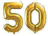 SiDeSo® Folienballon XXL Gold Heliumgeeignet Party Geburtstag Jahrestag Hochzeitstag Jubiläum...
