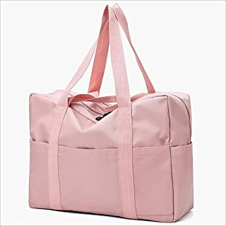 Ysswjzz Large Travel Duffles,Holdall Travel Bags Weekend Bag Overnight Bag Carry On Luggage (Color : Pink)