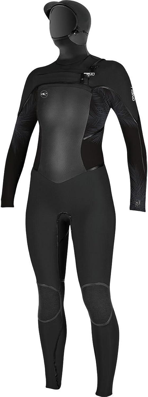 O'Neill Psychotech Fuze 5.5 4 Hooded Wetsuit  Women's Black Harbor Mist Black 8