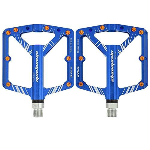 FECAMOS Mano de Obra Exquisita Pedal de Bicicleta de Carretera de montaña BIKEIN Piezas de Bicicleta Alta Durabilidad para Montar en senderos para Deportes(Blue)