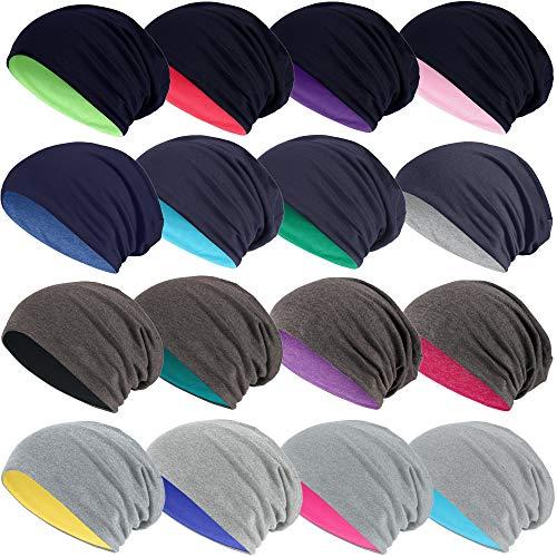 Hatstar 2in1 Reversible Damen Beanie | Damen und Herren Mütze | Wintermütze | weich & warm (2 in 1 dunkelgrau/hellgrau)