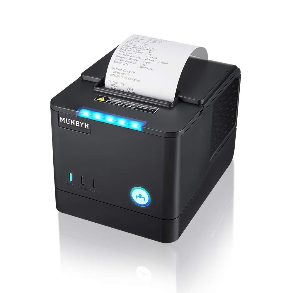 Impresora de Recibos térmicos MUNBYN 31/8 de 80 mm con Cortador ...