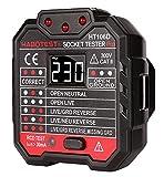 SP-Cow con LED pantalla de voltaje Probador de tomacorrientes DRC 48-250V,Comprobador de Enchufe