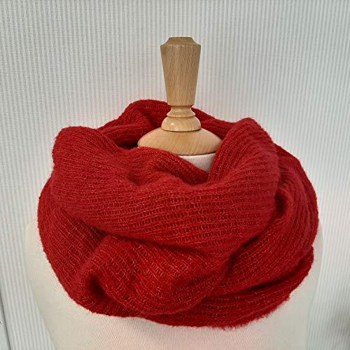 Tuch scarf Schal Schultertuch rot Alpaka Seide alpaca silk Damen Mädchen, Kopftuch, Halstuch, gestrickt, knitted