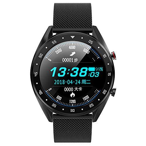 Yu-Watchs Bluetooth-Uhr, 1,3-Zoll-Farbbildschirm Smart Watch Multifunktions-Sportarmband IP67 wasserdicht, Unterstützung für Bluetooth-Anrufe,A