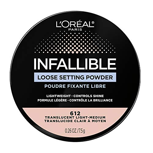 L'Oreal Paris Infallible Tinted Loose Setting Powders, Matte Finish, Lightweight, No White Cast, 2 Shades From Light To Deep, Translucent Medium-deep, 0.28 Oz
