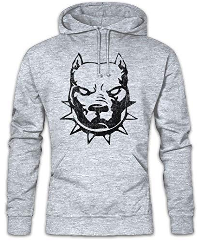 Urban Backwoods Pitbull Hoodie Kapuzenpullover Sweatshirt Grau Größe M