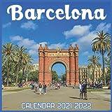 Barcelona Calendar 2021-2022: April 2021 Through December 2022 Square Photo Book Monthly Planner Barcelona, small calendar