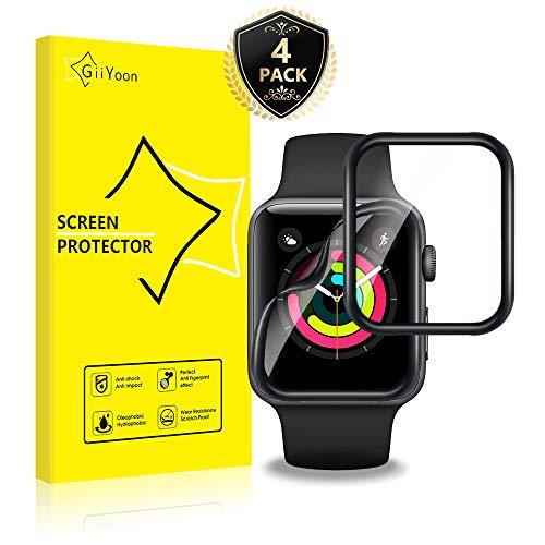 GiiYoon 4 Pezzi Pellicola per Apple Watch Series 3/2/1 42mm Protettiva, [TPU-Morbido Pellicola] [ Non Vetro Temperato ] Schermo Protettivo per Apple Watch Series 3/2/1 42mm
