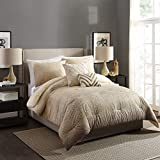 Ayesha Curry Modern Ombre Comforter Set, Full Queen, Taupe