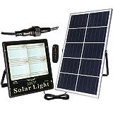 DUCCM Proyectores de energía Solar con Cable de 5 m, luz de Seguridad Solar a Prueba de Agua IP66, alimentada por batería con Pantalla de Carga, batería de 3,2 V, Paneles solares de 5 V, 12 Horas