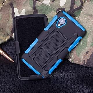 Cocomii Robot Armor LG Nexus 5 Case New [Heavy Duty] Premium Belt Clip Holster Kickstand Shockproof Hard Bumper Shell [Military Defender] Full Body Dual Layer Rugged Cover for LG Nexus 5 (R.Blue)