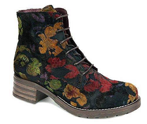 Brako Stiefel Boots FILANDA Multi Military Samt Blumen 8415 (39)