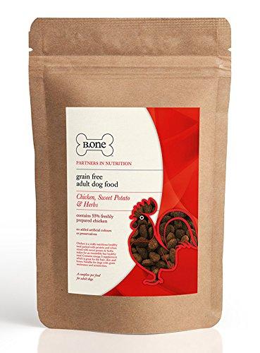 B.one 55% de pollo, patata dulce y hierbas – Alimento para perros adultos sin granos premium (bolsa de 1,5 kg)