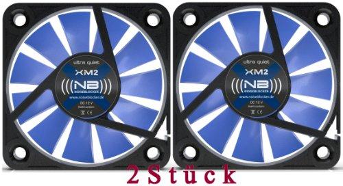 Noiseblocker BlackSilentFan - Ventilador (40 mm, XM2, 2 unidades)