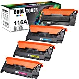 Cool Toner Compatible Toner Cartridge Replacement for HP 116A W2060A HP Color Laser MFP 178nw 179fnw 178nwg 179fwg 150a 150nw Printer W2061A W2062A W2063A Ink (Black Cyan Magenta Yellow, 4-Pack)