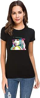 DUANCHAOO Women's Britney Spears Art Cotton Short Sleeve T Shirt for Women