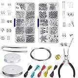 Queta Juego de DIY Aretes Kit de Materiales y Accesorios para Fabricación de Aretes Joyería para Aretes/Pulseras/Collares/Manualidades