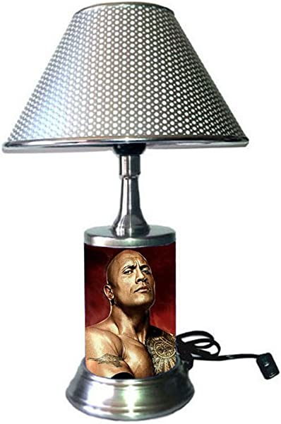 The Rock Lamp With Silver Colored Shade