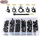 Automotive Car Wire Harness Routing Clip Assortment Kit 60PCS Car Wiring Harness Wire Loom Routing Clips Universal 6 Different Sizes Wire Loom Routing Clips for Honda GM Mazda Jeep Wrangler Ford
