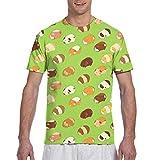 Aeykis T-shirt à manches courtes pour homme Motif cochon d'Inde léger -  Multicolore - Small