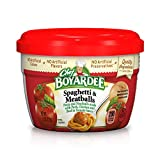 Chef Boyardee Spaghetti & Meatballs in Tomato Sauce, 7.5-Ounce Microwavable Bowls (Pack of 12)